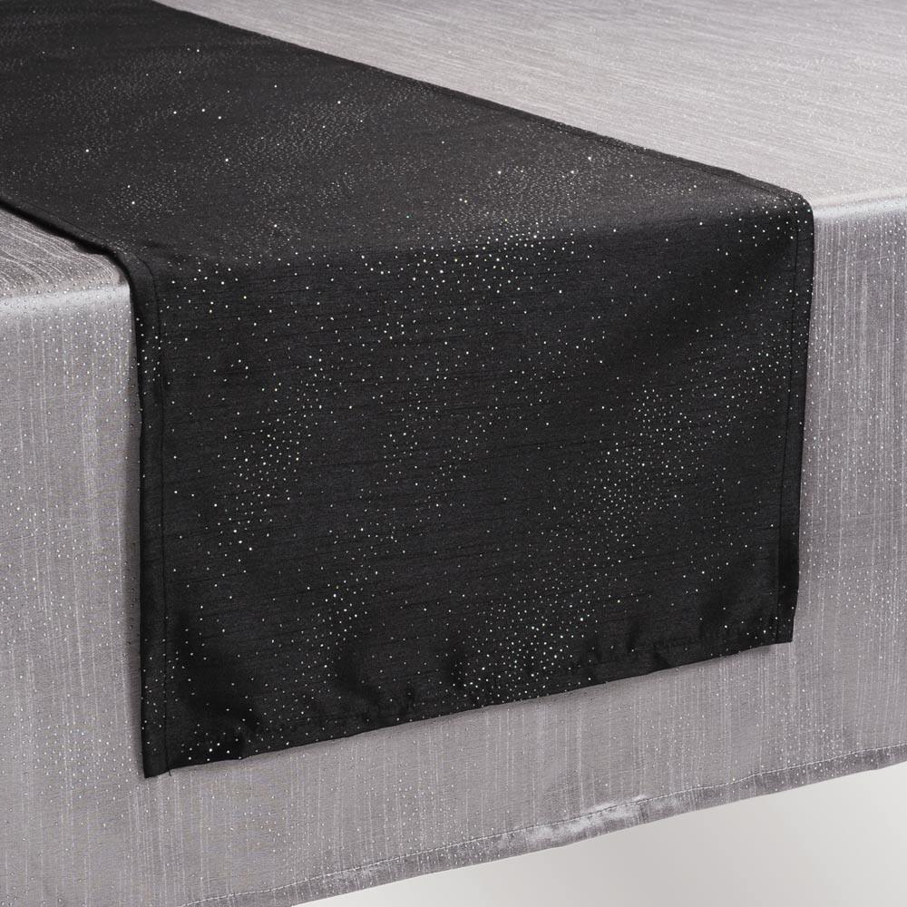 chemin de table lido noir maisons du monde. Black Bedroom Furniture Sets. Home Design Ideas
