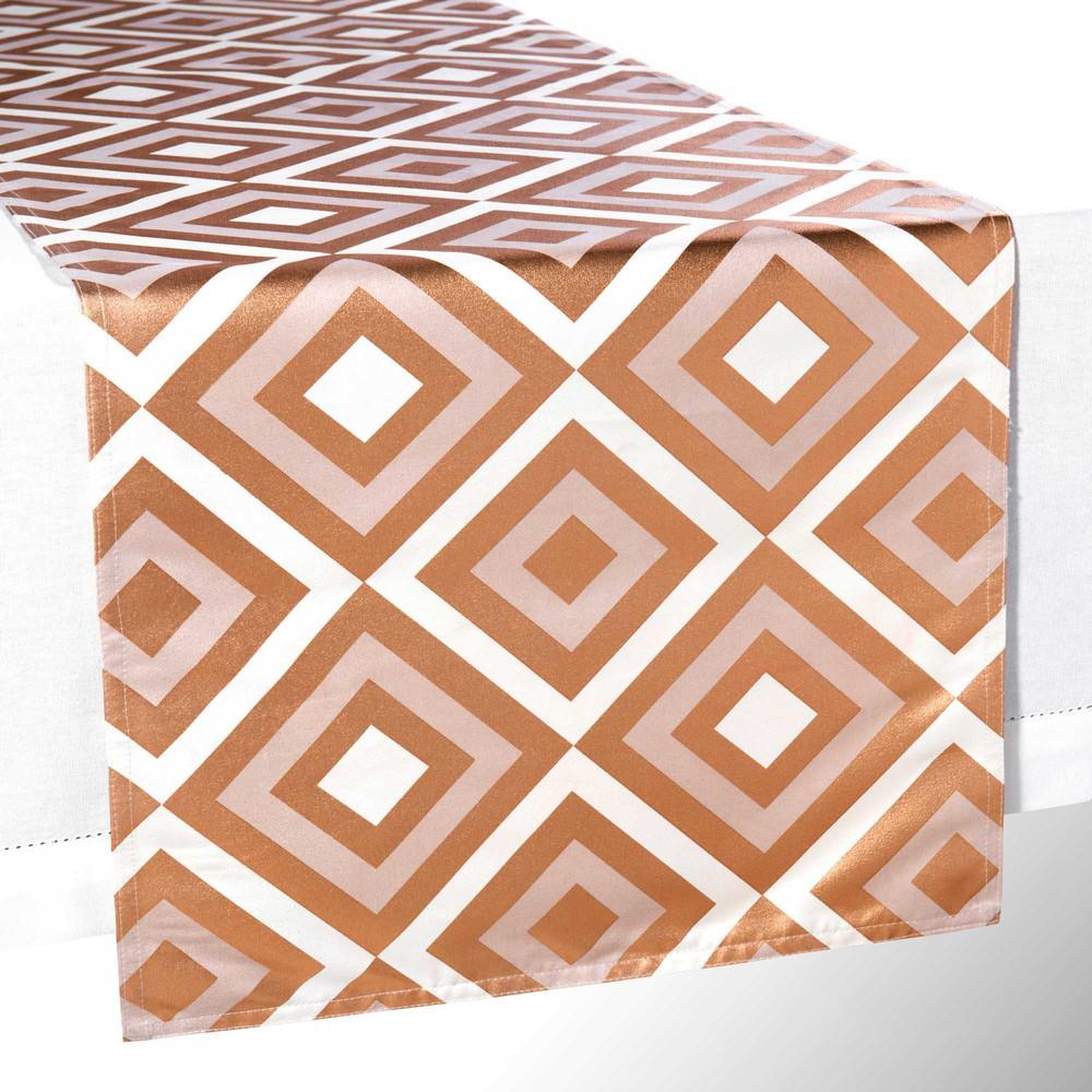 chemin de table motifs dor s l 150 cm isla maisons du monde. Black Bedroom Furniture Sets. Home Design Ideas