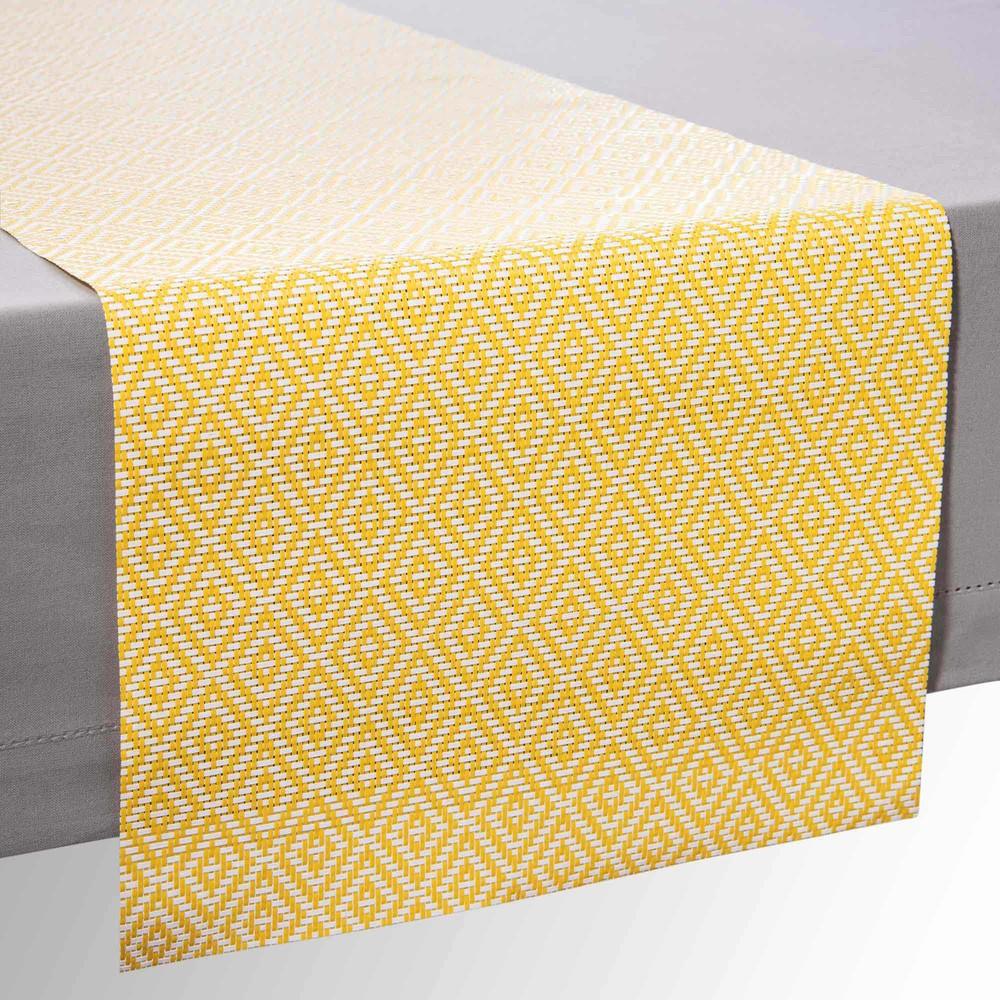 chemin de table motifs jaunes ethno maisons du monde. Black Bedroom Furniture Sets. Home Design Ideas