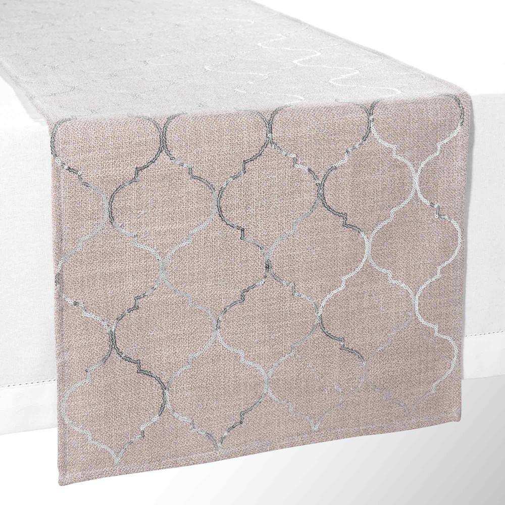 chemin de table motifs sequins l 150 cm sol ne maisons. Black Bedroom Furniture Sets. Home Design Ideas