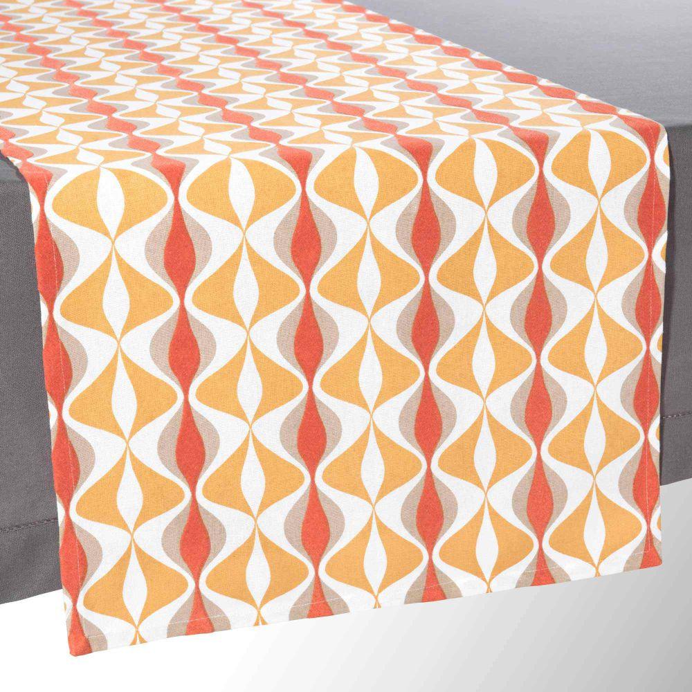 Chemin de table orange l 150 cm sloane maisons du monde - Chemin de table orange ...