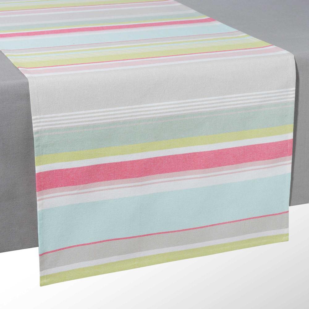 chemin de table ray en coton l 150 cm calypso maisons du monde. Black Bedroom Furniture Sets. Home Design Ideas