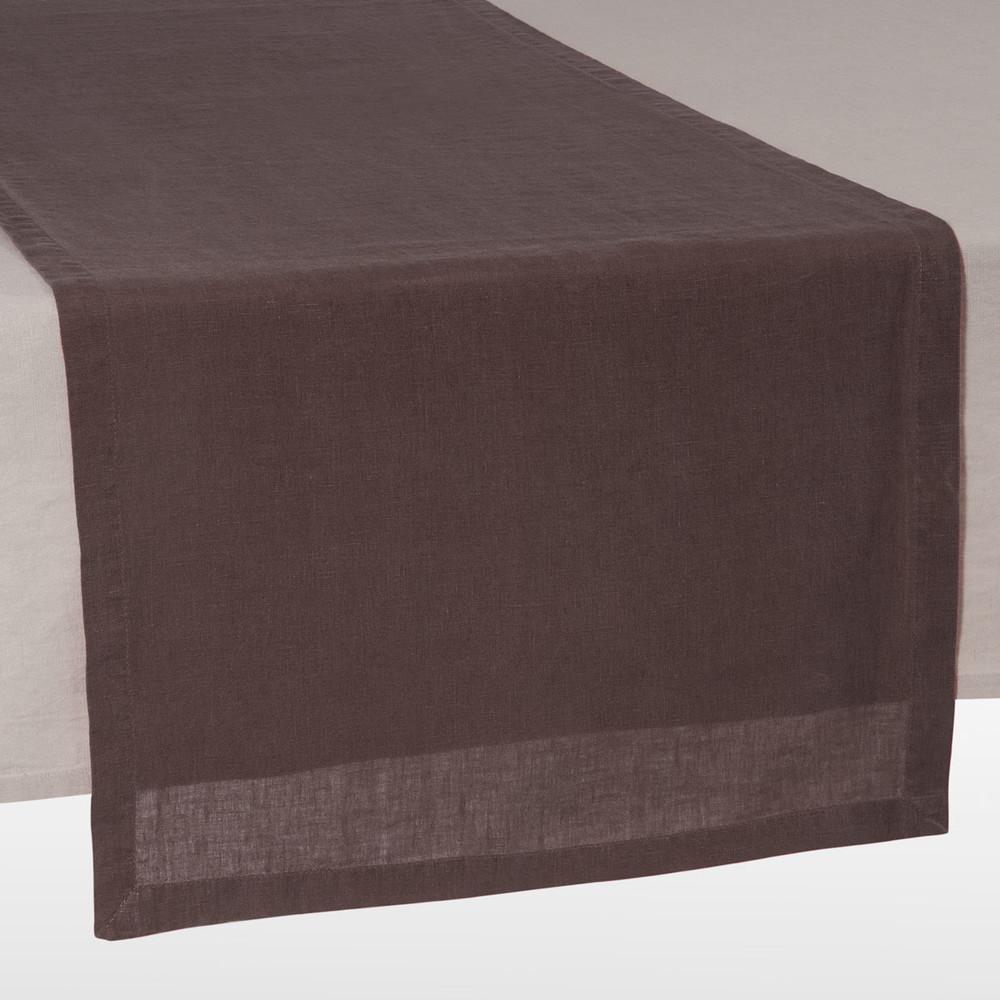 chemin de table taupe 48 x 150 cm anicienne maisons du monde. Black Bedroom Furniture Sets. Home Design Ideas