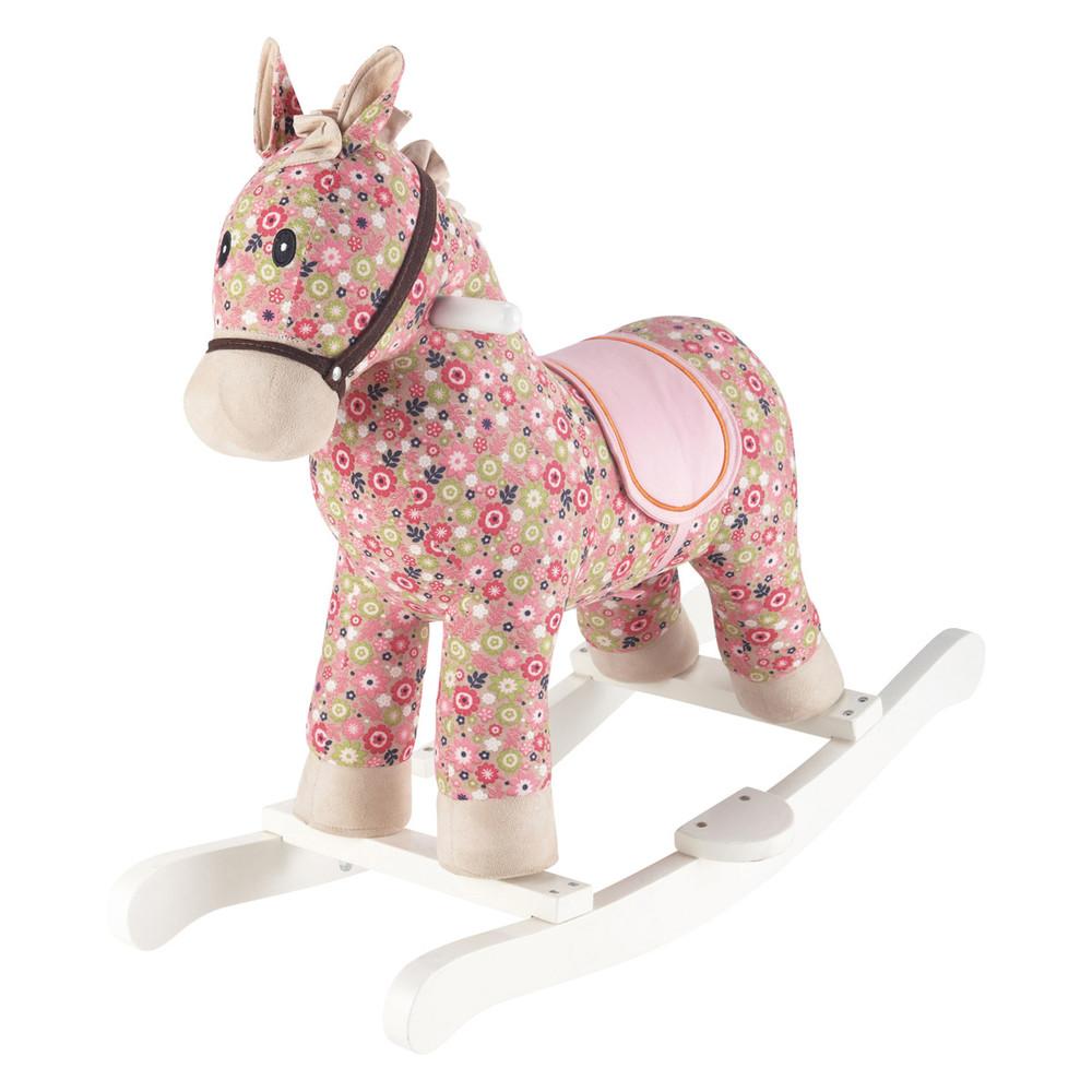 cheval bascule rose h 70 cm pony maisons du monde. Black Bedroom Furniture Sets. Home Design Ideas