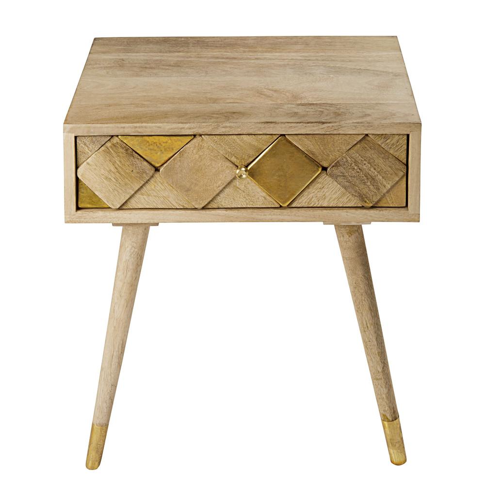 gallery of chevet tiroir en manguier effet dor with maison du monde table chevet. Black Bedroom Furniture Sets. Home Design Ideas