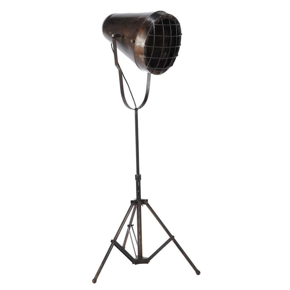 chicago metal industrial tripod floor lamp h 110cm With floor lamp 110cm