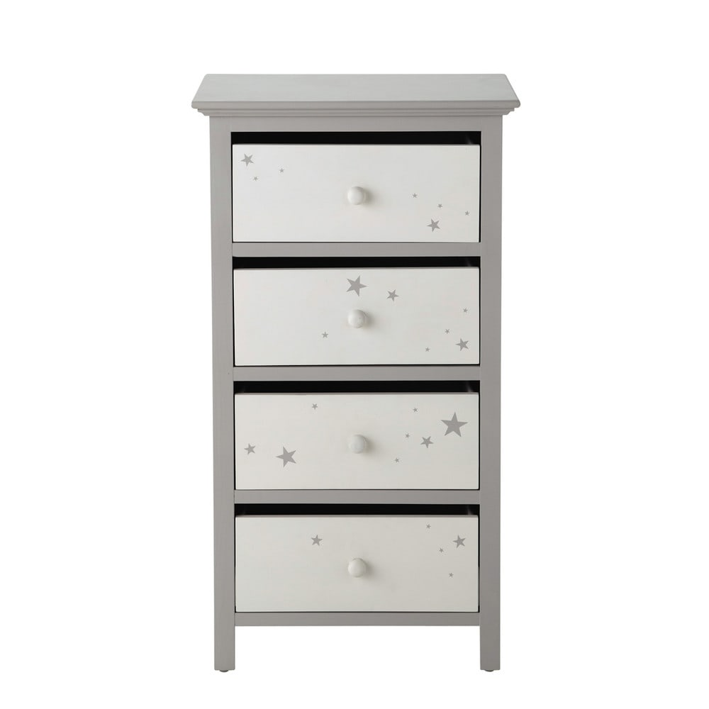 chiffonnier en bois gris l 46 cm songe maisons du monde. Black Bedroom Furniture Sets. Home Design Ideas