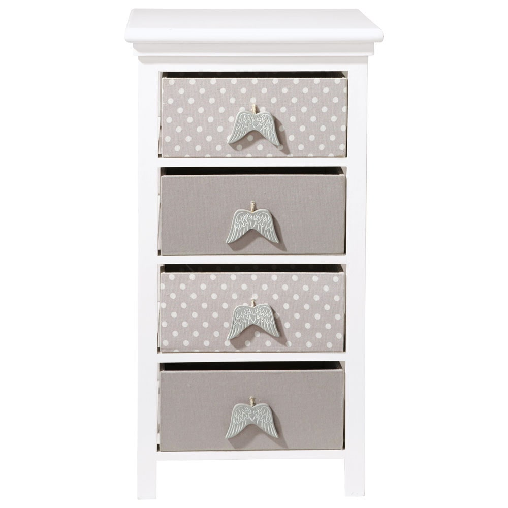 chiffonnier enfant en bois blanc l 46 cm ange maisons du monde. Black Bedroom Furniture Sets. Home Design Ideas