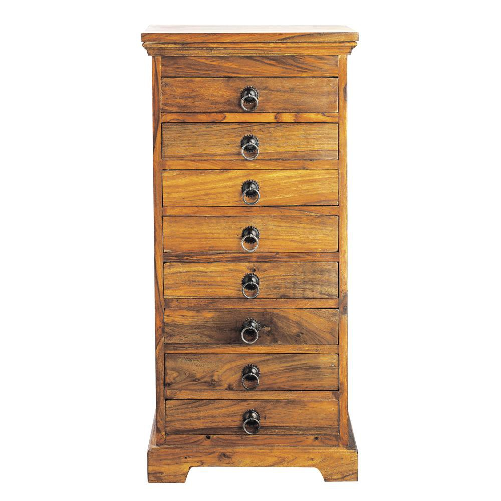 chiffonnier indien en bois de sheesham massif l 40 cm. Black Bedroom Furniture Sets. Home Design Ideas