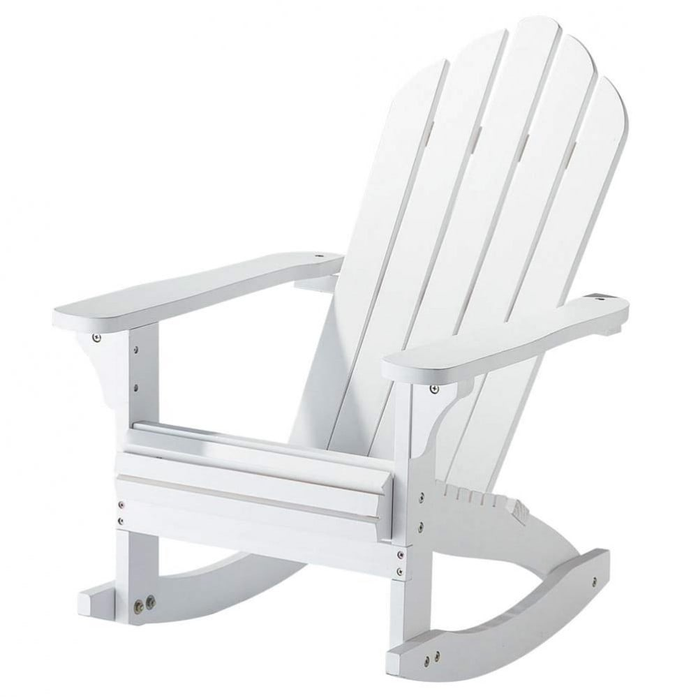 child 39 s solid wood rocking chair in white cape cod maisons du monde. Black Bedroom Furniture Sets. Home Design Ideas