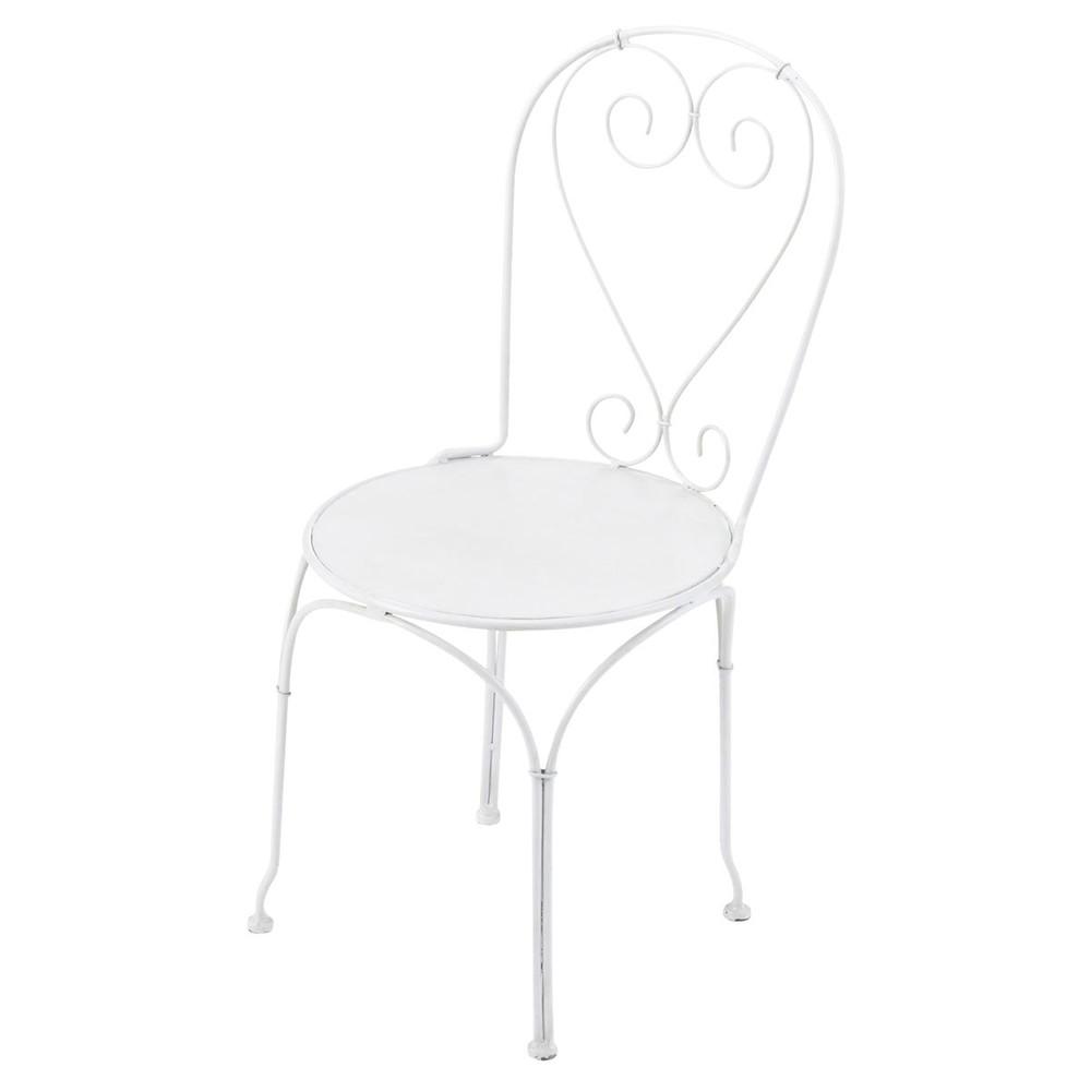 child 39 s wrought iron garden chair in white saint germain