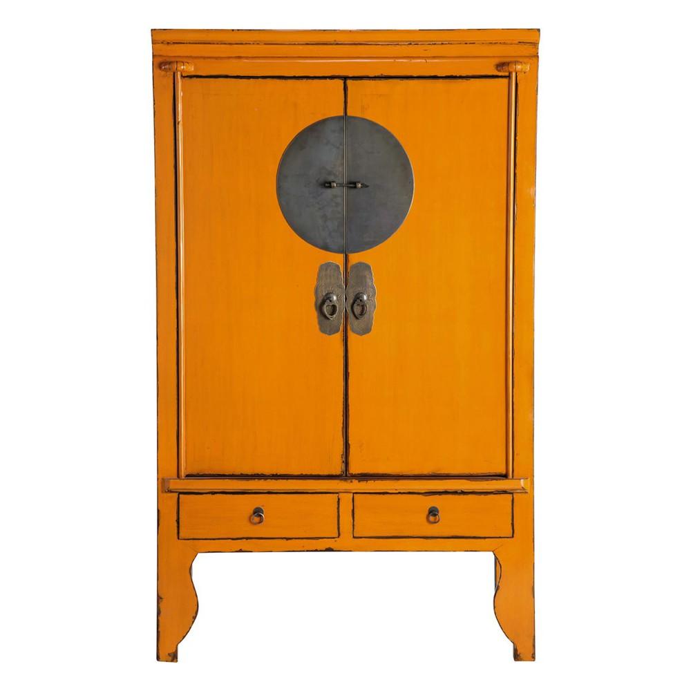 chinesischer hochzeitsschrank orange mandarin mandarin maisons du monde. Black Bedroom Furniture Sets. Home Design Ideas