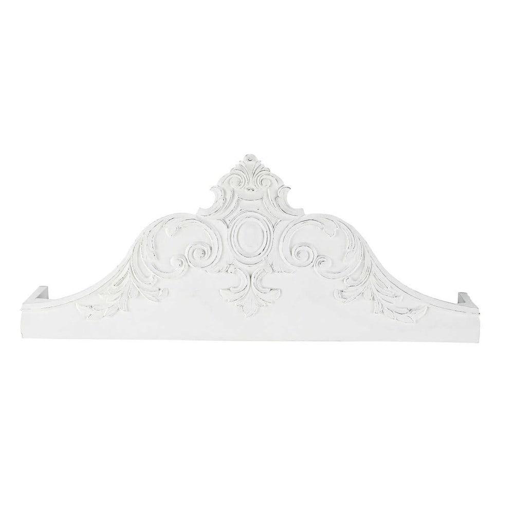 Ciel De Lit En Bois Sculpte : ciel de lit sculpt? en manguier massif blanc l 100 cm avec ce ciel de