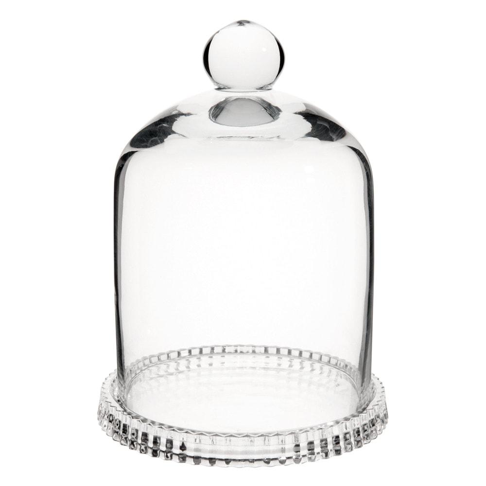 Cloche en verre h 16 cm maisons du monde for Cloche de jardin en verre