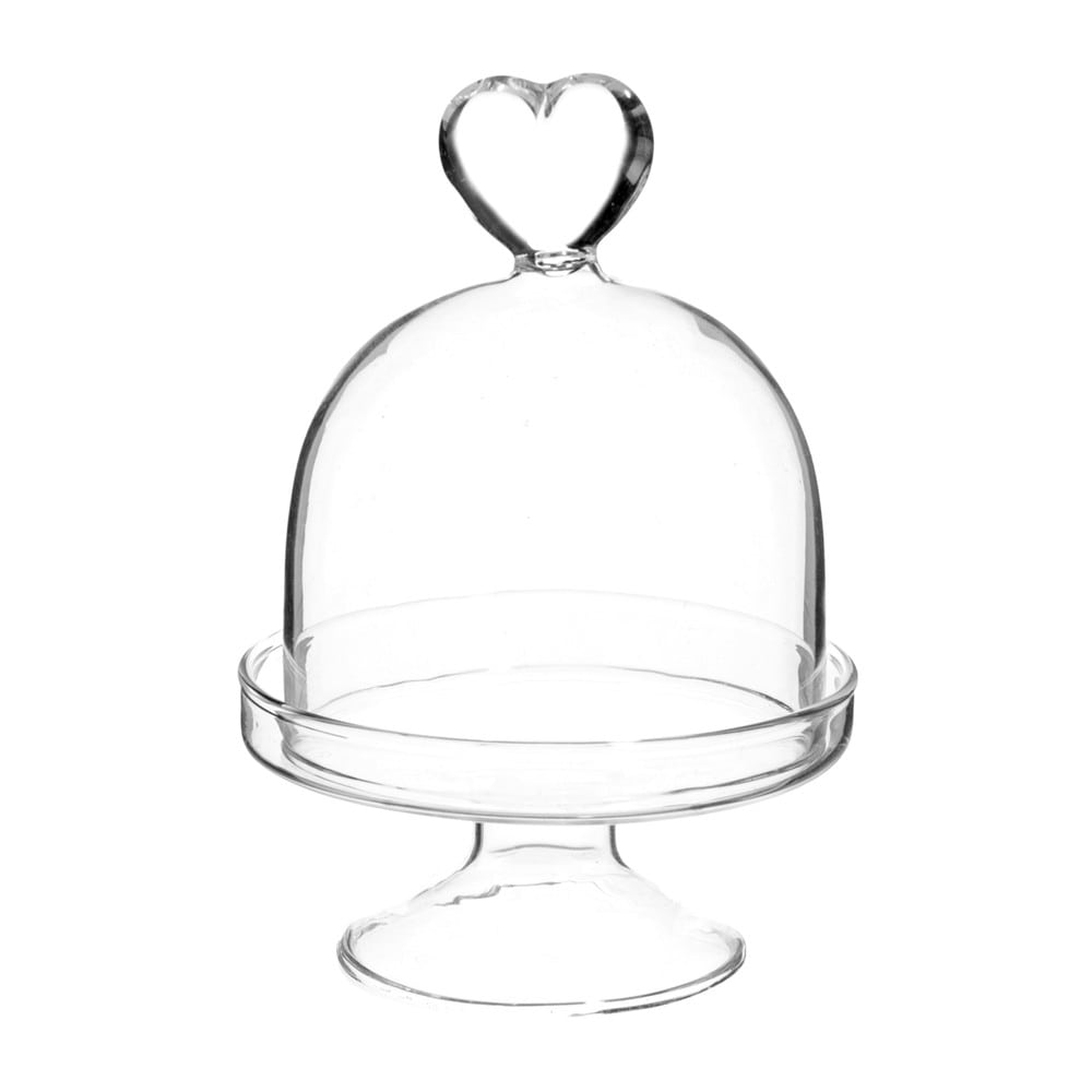 cloche sur pied en verre h 9 cm c ur maisons du monde. Black Bedroom Furniture Sets. Home Design Ideas