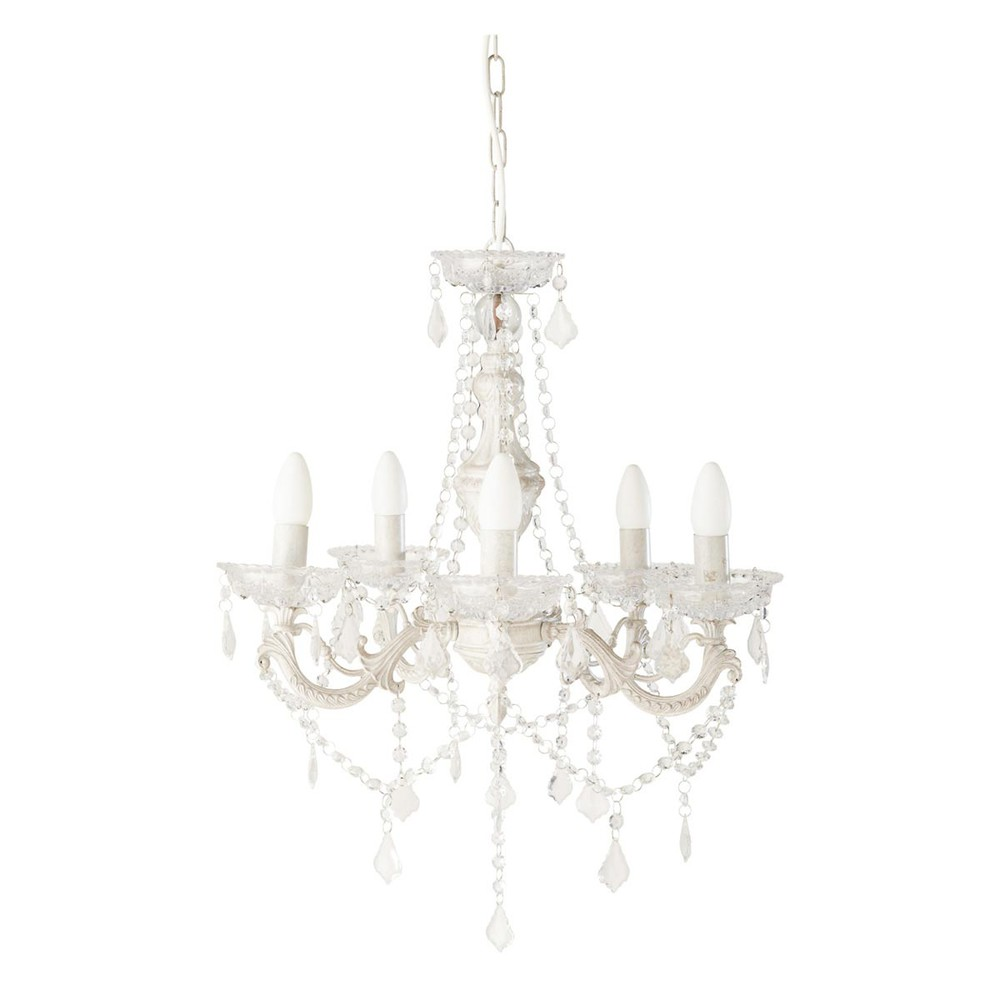 CLOTHILDE metal 5 branch chandelier D 49cm