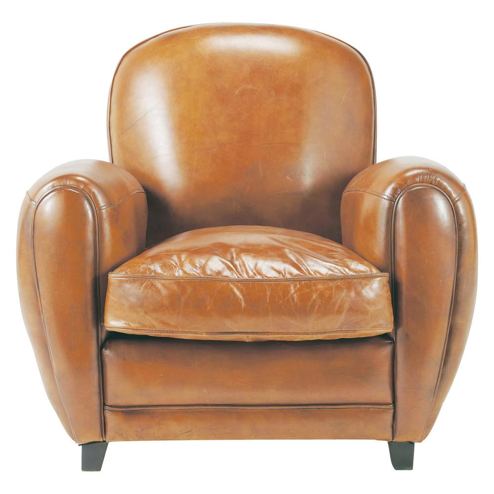 clubsessel aus leder cognacfarben oxford maisons du monde. Black Bedroom Furniture Sets. Home Design Ideas