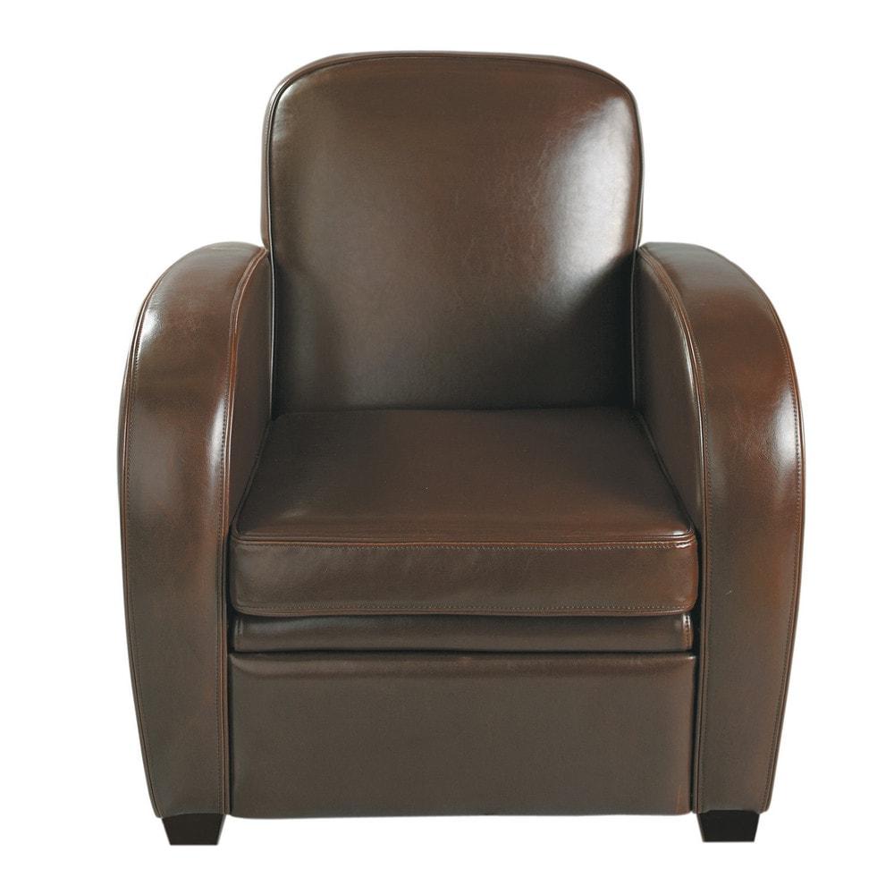 clubsessel aus leder schokoladenbraun harvard harvard maisons du monde. Black Bedroom Furniture Sets. Home Design Ideas