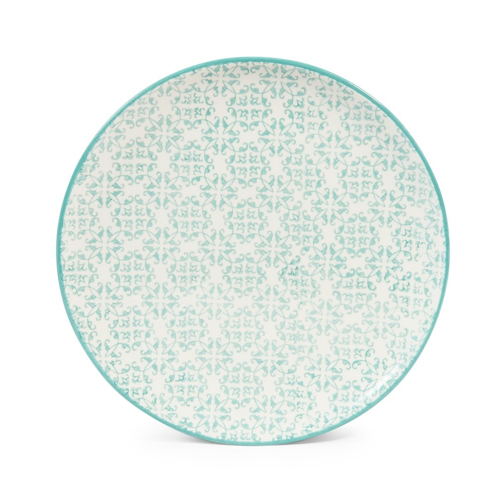 cocotte blue earthenware dessert plate d 21cm maisons du monde. Black Bedroom Furniture Sets. Home Design Ideas
