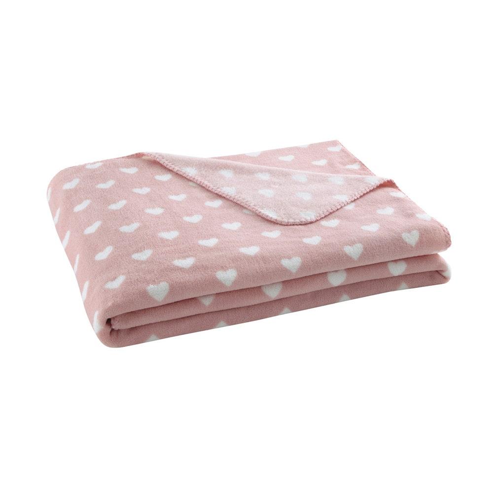 C ur blanket in pink 130 x 170cm maisons du monde - Maison du monde plaid ...