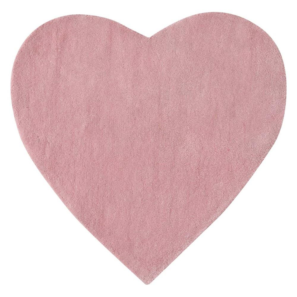 c ur pink short pile rug l 70 cm maisons du monde. Black Bedroom Furniture Sets. Home Design Ideas