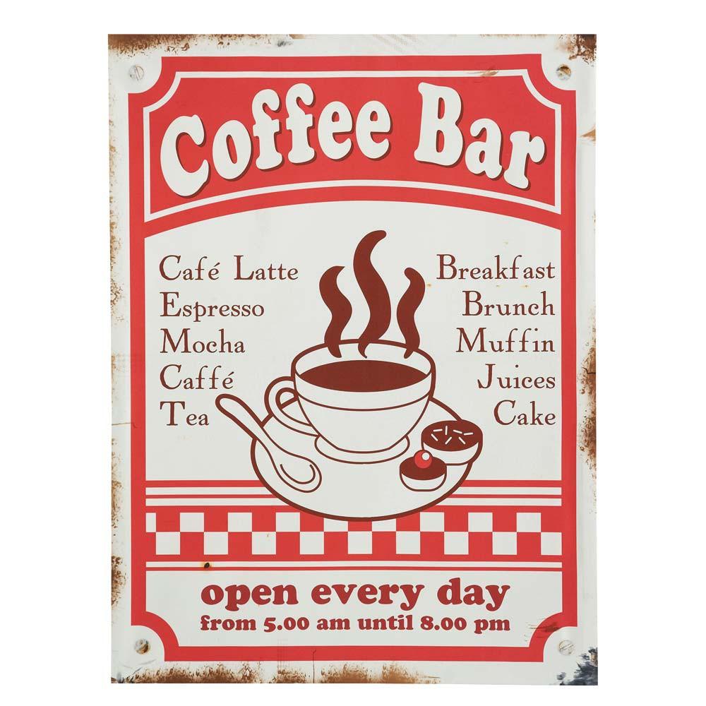 coffee bar canvas print maisons du monde. Black Bedroom Furniture Sets. Home Design Ideas