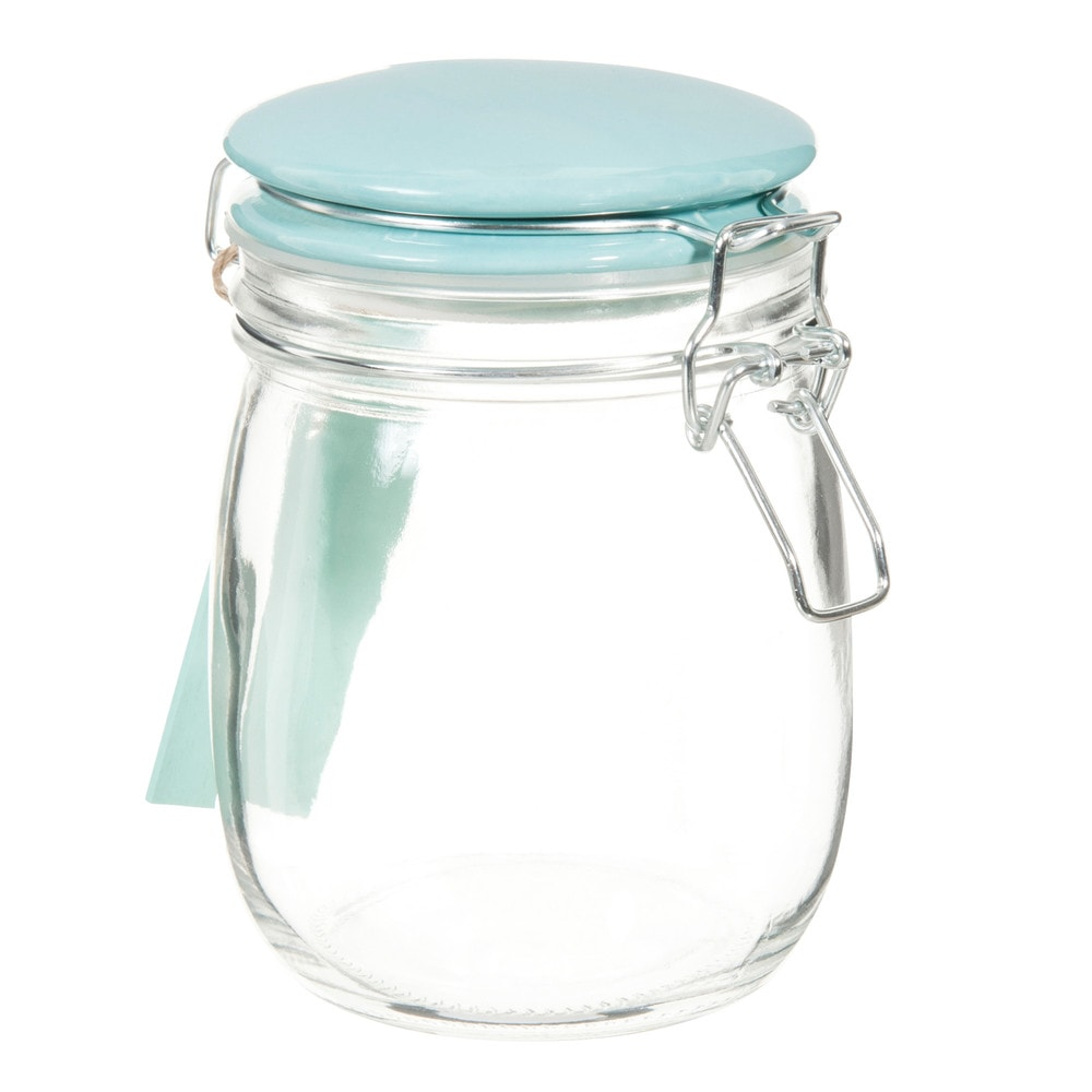 coffee glass jar in mint green h 15cm maisons du monde. Black Bedroom Furniture Sets. Home Design Ideas