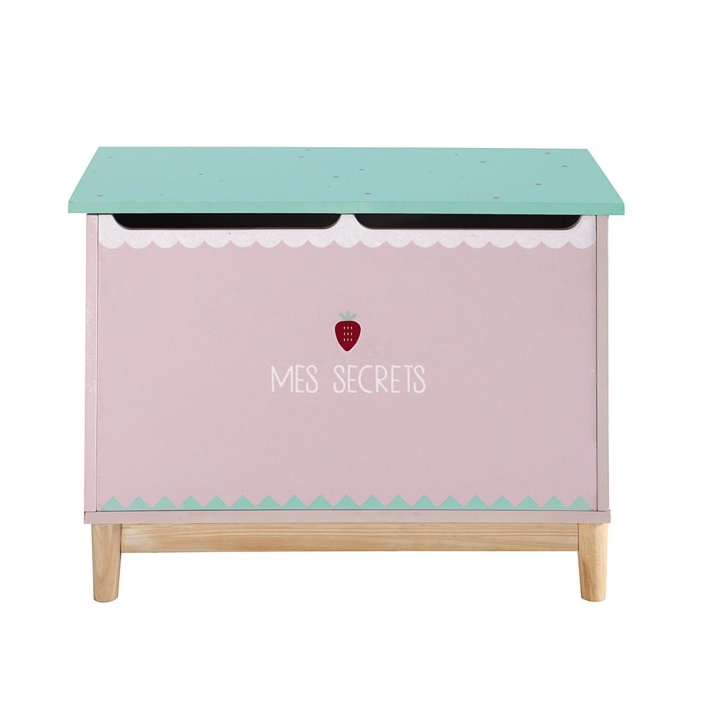 coffre jouets enfant rose berlingot maisons du monde. Black Bedroom Furniture Sets. Home Design Ideas