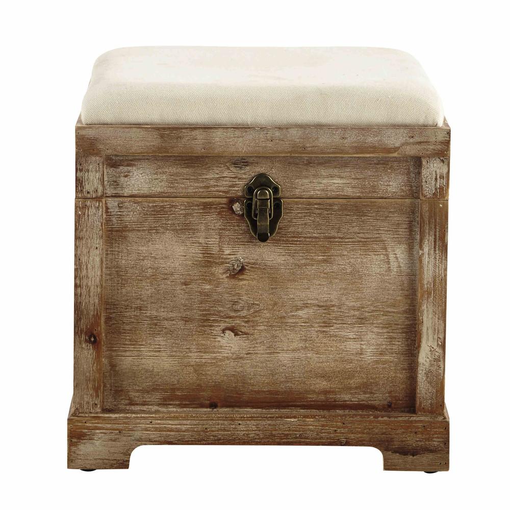 Coffre banc en bois l 39 cm cascabelle maisons du monde - Coffre maison du monde ...