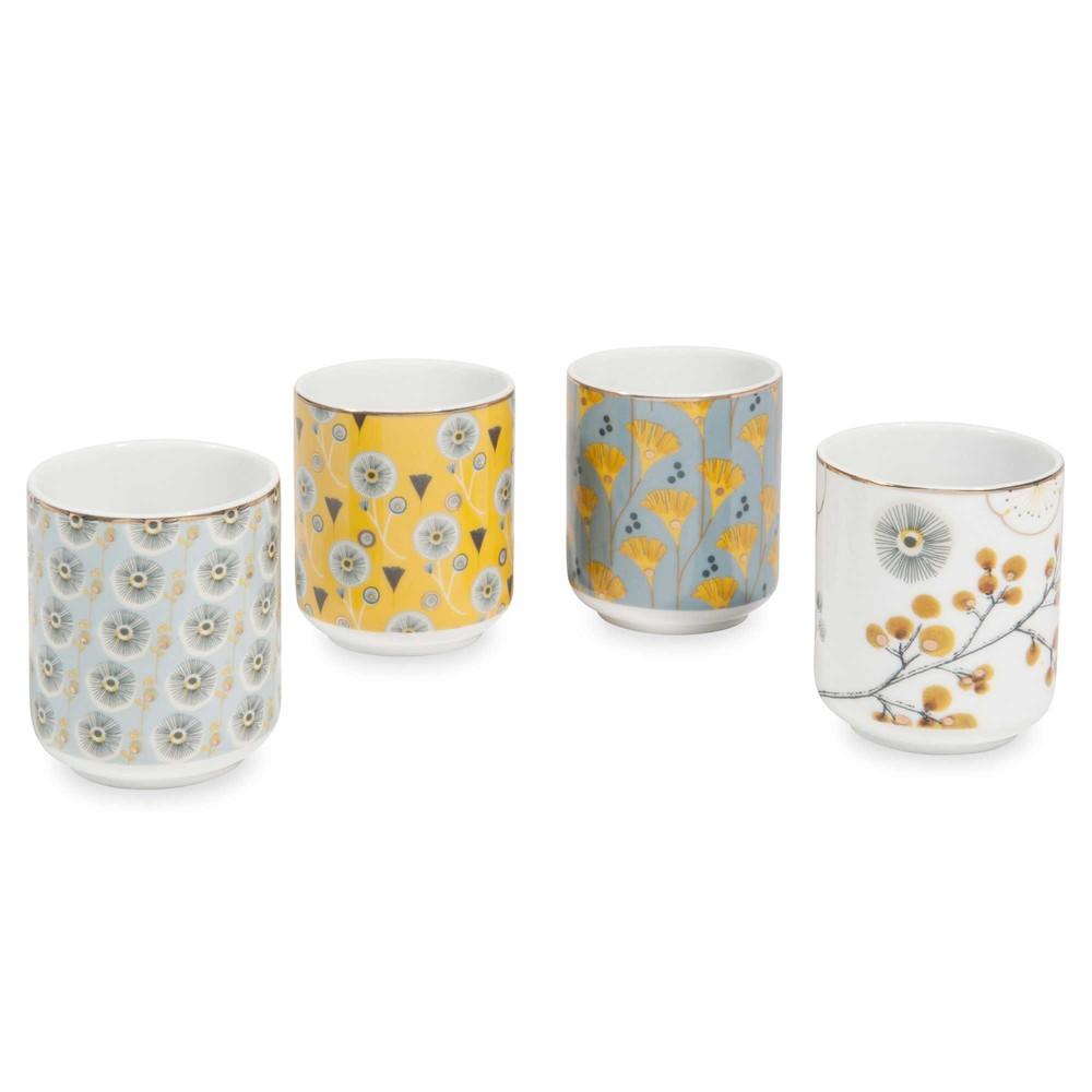 Coffret 4 tasses en porcelaine asuko maisons du monde - Maison du monde tasse ...