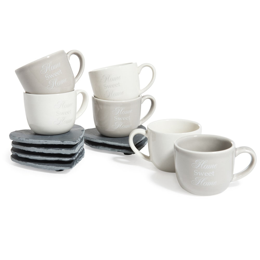 coffret 6 tasses et soucoupes invitation maisons du monde. Black Bedroom Furniture Sets. Home Design Ideas