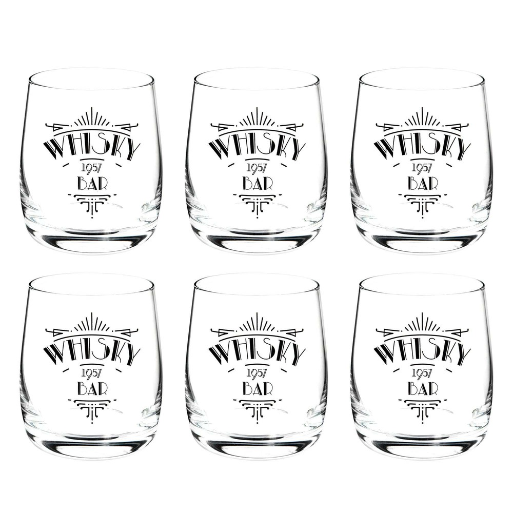 coffret de 6 verres whisky whisky bar maisons du monde. Black Bedroom Furniture Sets. Home Design Ideas