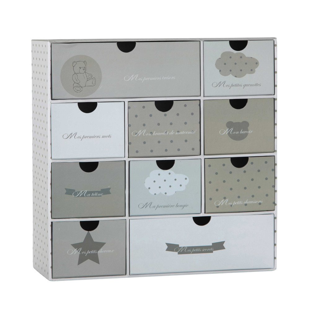 coffret naissance tiroirs ourson maisons du monde. Black Bedroom Furniture Sets. Home Design Ideas