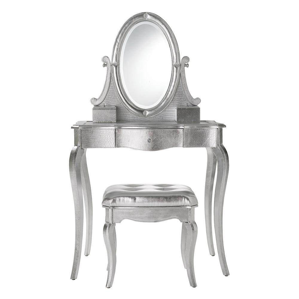coiffeuse en bois argent l 83 cm diamant maisons du monde. Black Bedroom Furniture Sets. Home Design Ideas