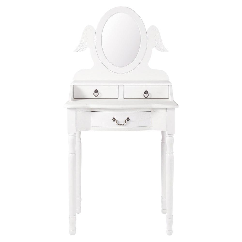 Coiffeuse enfant blanche l 61 cm ange maisons du monde for Coiffeuse meuble enfant