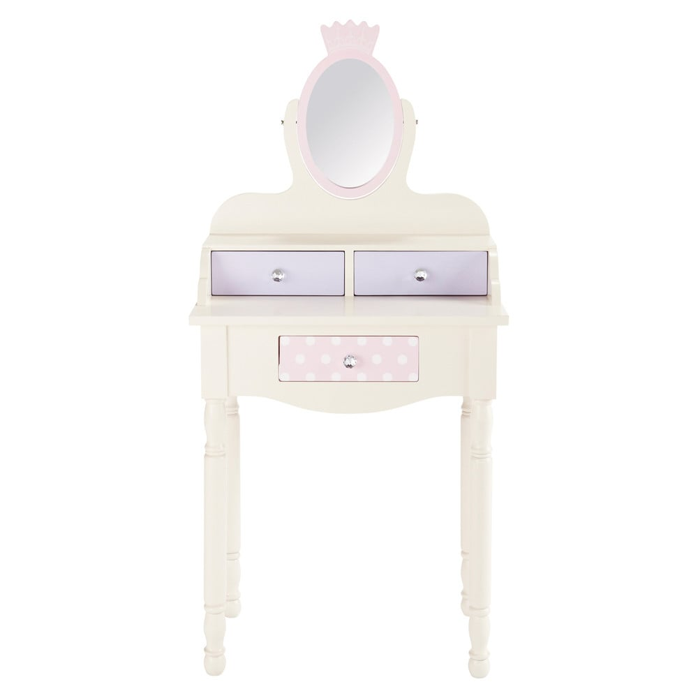 coiffeuse enfant en bois ivoire l 61 cm princesse maisons du monde. Black Bedroom Furniture Sets. Home Design Ideas