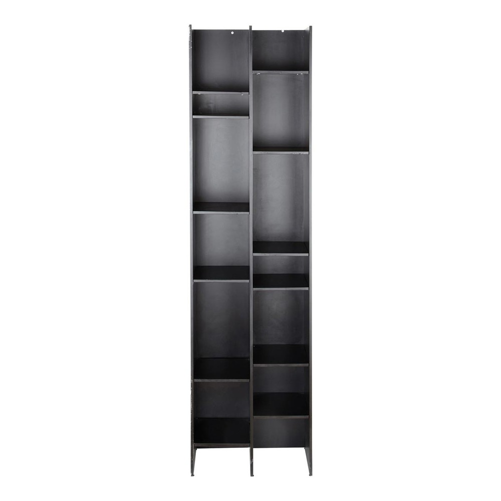 colonne biblioth que noire osaka maisons du monde. Black Bedroom Furniture Sets. Home Design Ideas