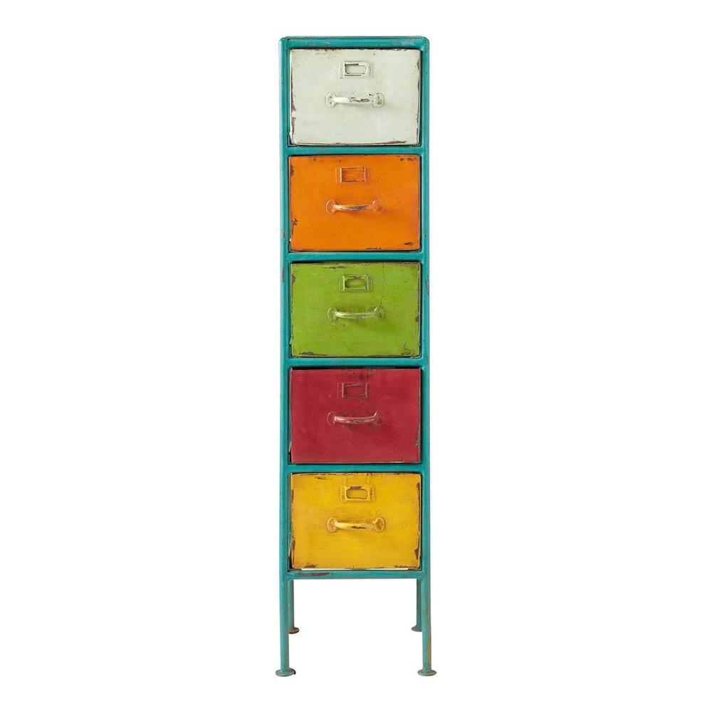 Colonne de rangement en m tal multicolore h 128 cm mojito maisons du monde - Maison du monde armoires ...