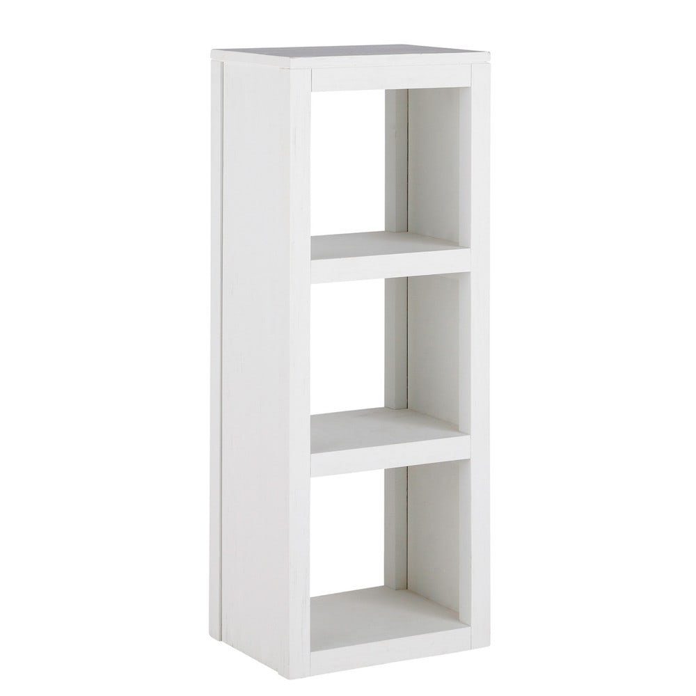 colonne en bois massif blanche h 104 cm white maisons du. Black Bedroom Furniture Sets. Home Design Ideas