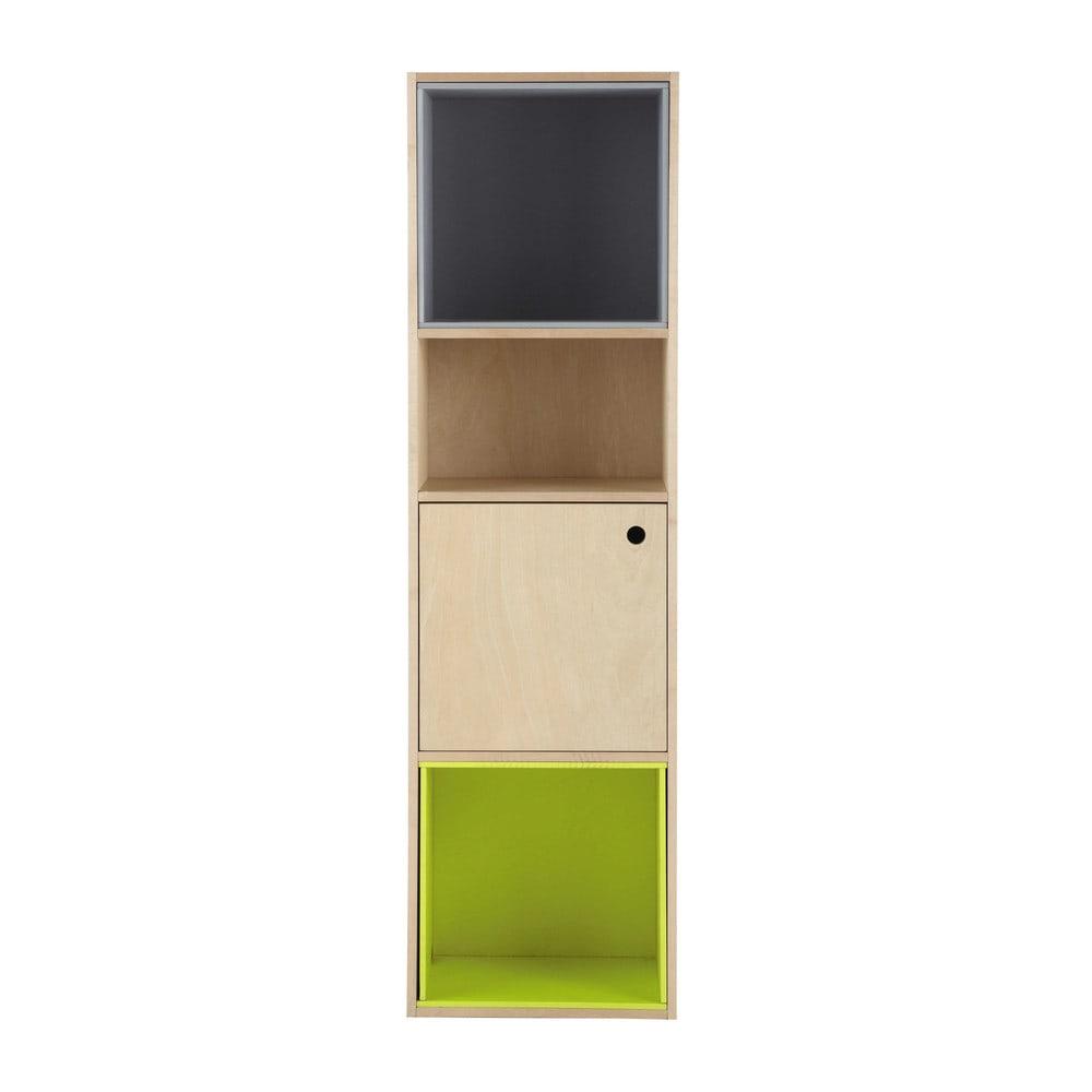 colonne modulable en bois grise et verte h 150 cm dekale maisons du monde. Black Bedroom Furniture Sets. Home Design Ideas