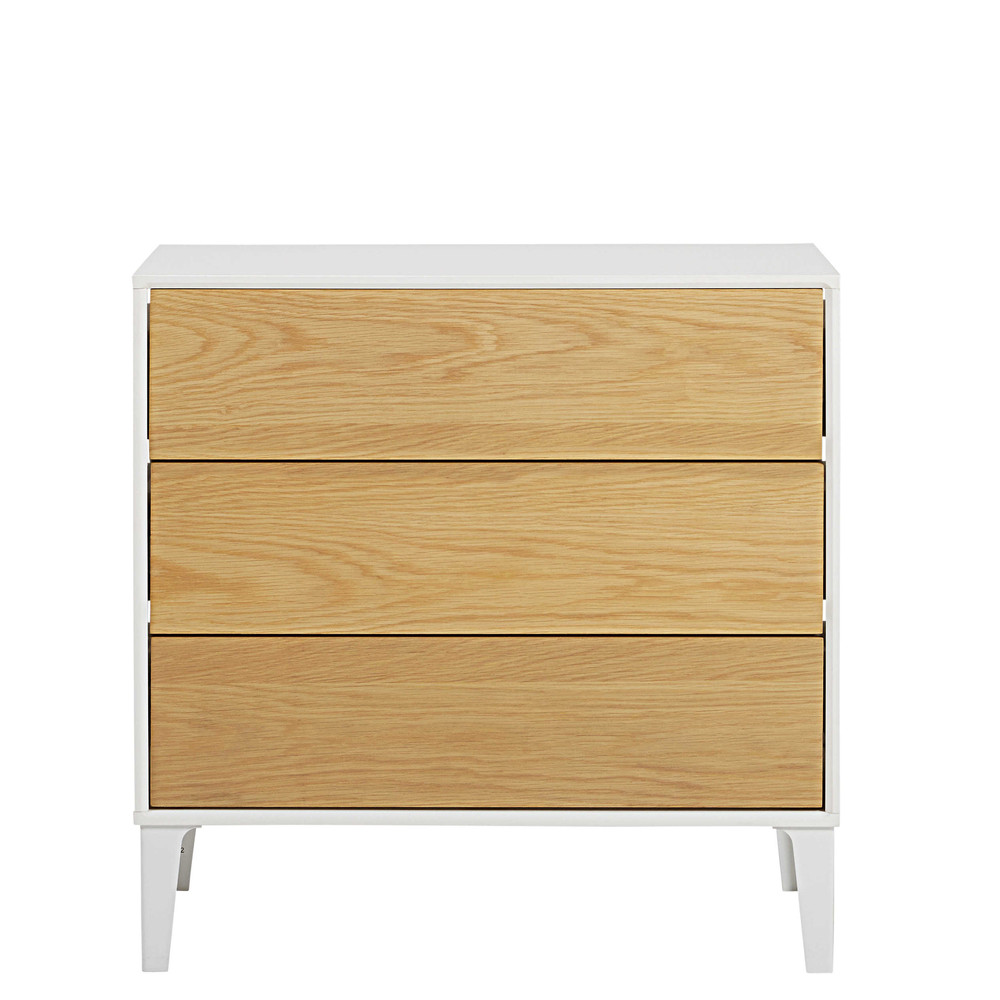 commode 3 tiroirs kara maisons du monde. Black Bedroom Furniture Sets. Home Design Ideas