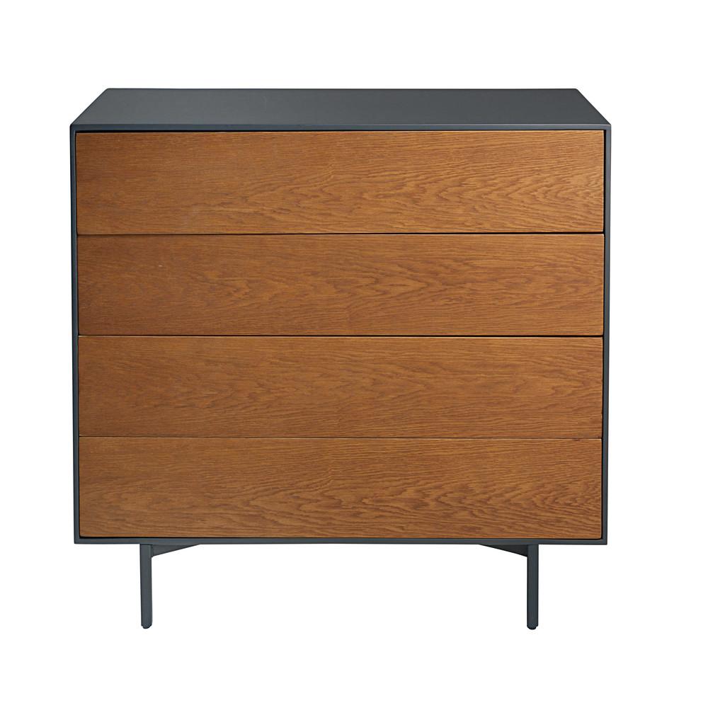 commode 4 tiroirs en ch ne massif fran ais camden. Black Bedroom Furniture Sets. Home Design Ideas