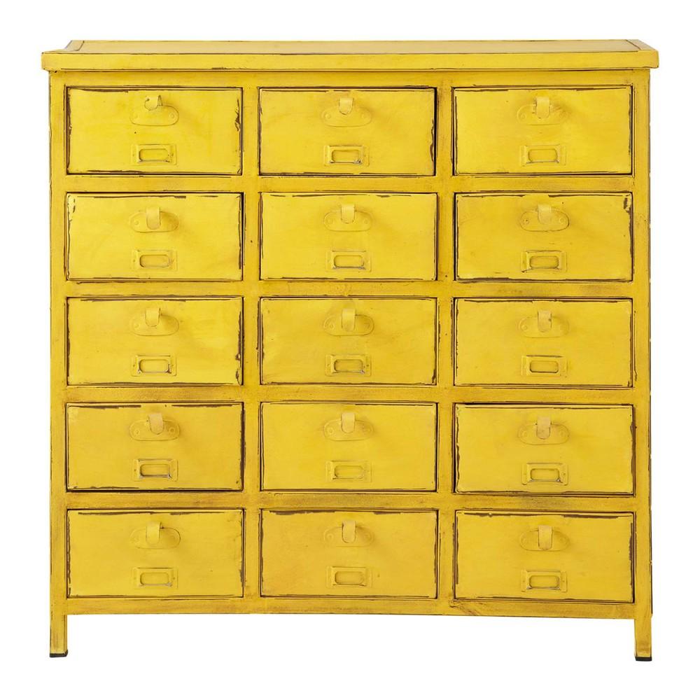commode cabinet indus jaune edison maisons du monde