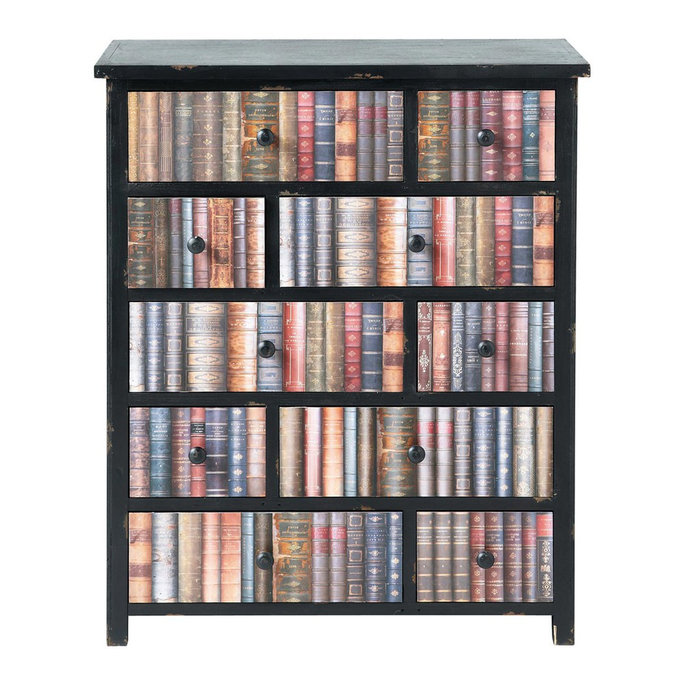 commode cabinet multi tiroirs livres libraire maisons du. Black Bedroom Furniture Sets. Home Design Ideas