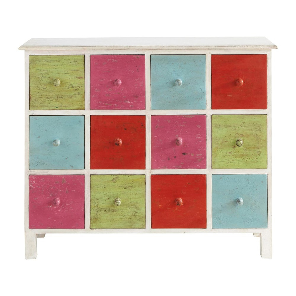 commode cabinet multi tiroirs multicolore holi maisons du monde. Black Bedroom Furniture Sets. Home Design Ideas