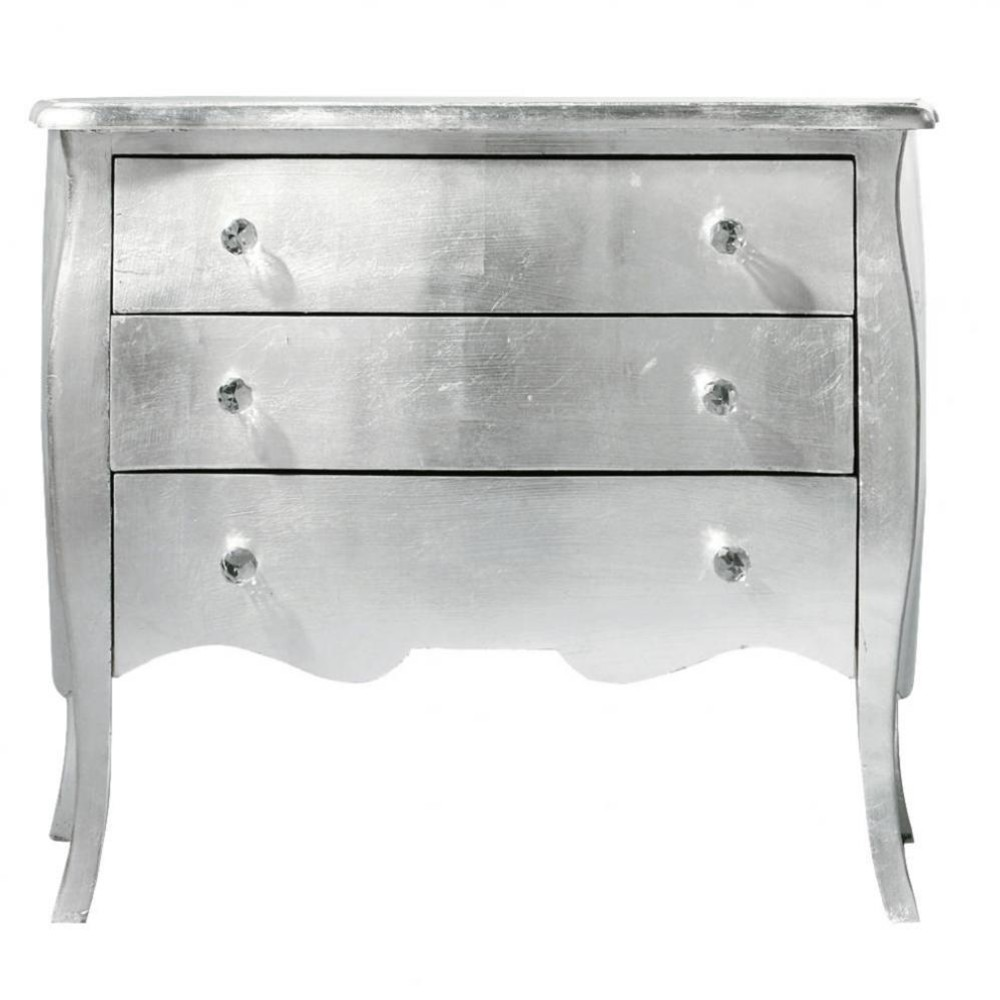 commode en bois argent l 91 cm diamant maisons du monde. Black Bedroom Furniture Sets. Home Design Ideas