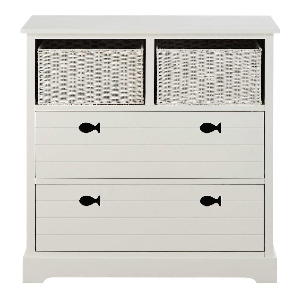 commode en bois blanc l 90 cm marin maisons du monde. Black Bedroom Furniture Sets. Home Design Ideas