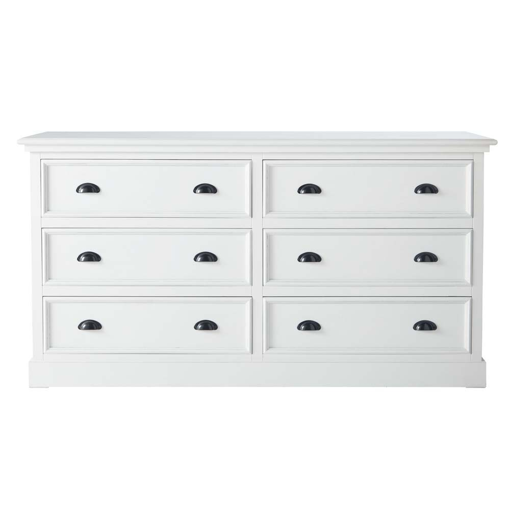 commode en bois blanche l 160 cm newport maisons du monde. Black Bedroom Furniture Sets. Home Design Ideas