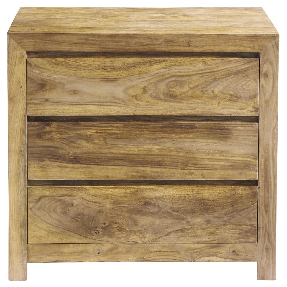 commode en bois de sheesham massif l 85 cm stockholm. Black Bedroom Furniture Sets. Home Design Ideas