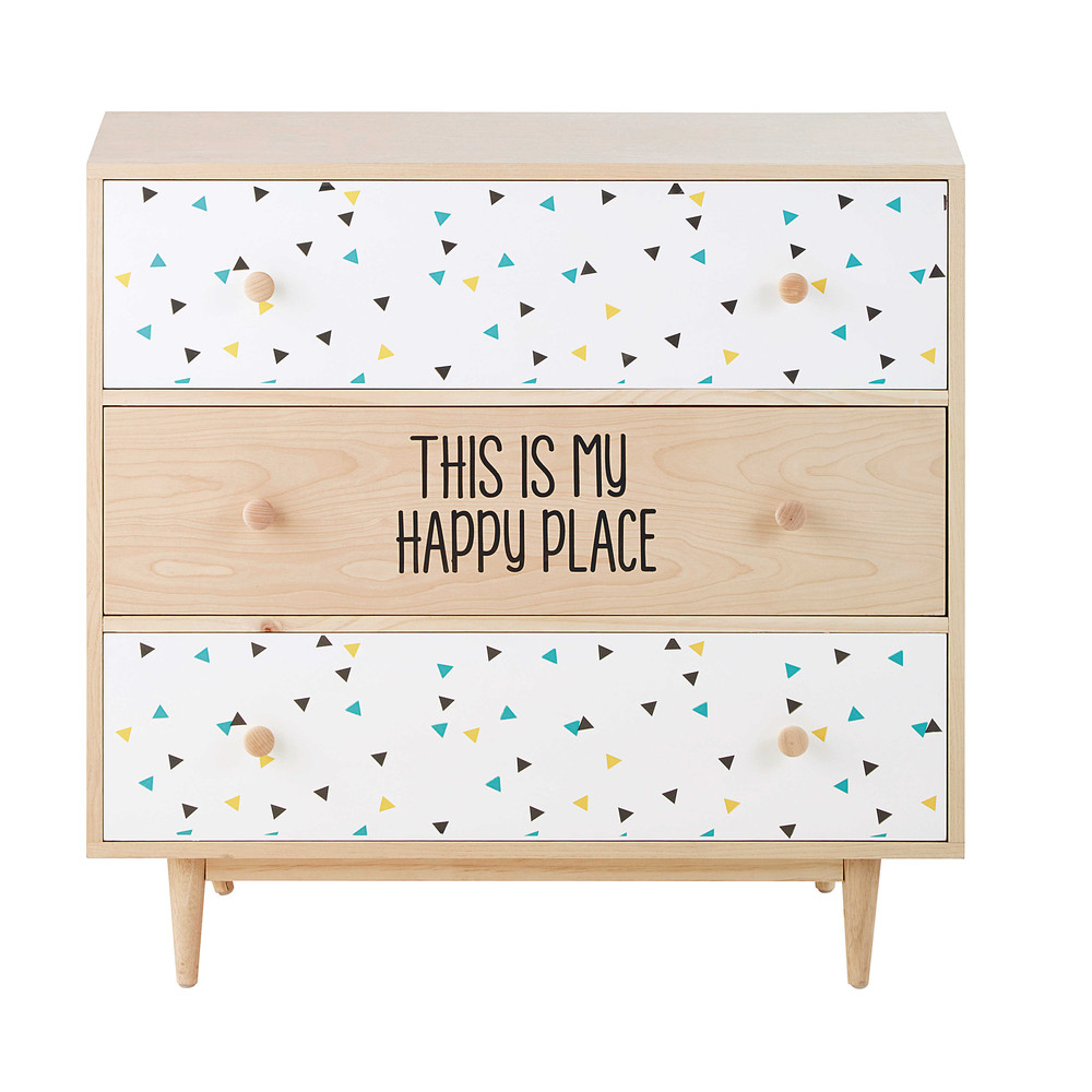commode en bois l 83 cm graphikids maisons du monde. Black Bedroom Furniture Sets. Home Design Ideas